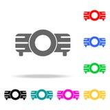 Icono del proyector Elementos en los iconos coloreados multi para los apps móviles del concepto y del web Iconos para el diseño y stock de ilustración