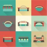 Icono del puente del vector Fotografía de archivo libre de regalías