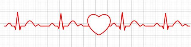 Icono del pulso del coraz?n cardiogram electrocardiograma Ilustraci?n del vector ilustración del vector