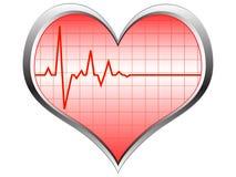 Icono del pulso del corazón Foto de archivo libre de regalías