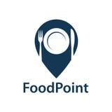 Icono del punto de la comida ilustración del vector
