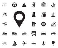 icono del punto de la ubicación Transporte el conjunto del icono imagenes de archivo