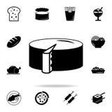 Icono del queso Sistema detallado de iconos de la comida y de la bebida Diseño gráfico de la calidad superior Uno de los iconos d stock de ilustración