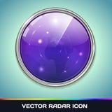 Icono del radar ilustración del vector