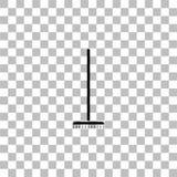 Icono del rastrillo que cultiva un huerto completamente ilustración del vector