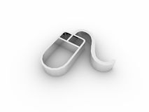 icono del ratón 3d ilustración del vector