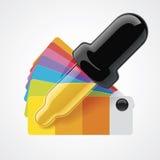 Icono del recogedor del color del vector Fotos de archivo libres de regalías