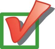 Icono del rectángulo de verificación Imagen de archivo