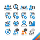 Icono del recurso humano del negocio - serie de la simplicidad ilustración del vector
