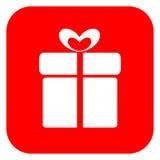 Icono del regalo Fotografía de archivo libre de regalías