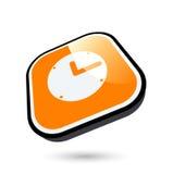 Icono del reloj Imágenes de archivo libres de regalías
