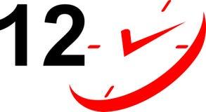 icono del reloj de 12 horas Fotos de archivo
