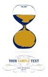 Icono del reloj de arena Imágenes de archivo libres de regalías