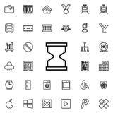 Icono del reloj de arena Sistema detallado de la línea minimalistic iconos Diseño gráfico superior Uno de los iconos de la colecc ilustración del vector