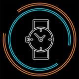 Icono del reloj de la mano, icono del reloj ilustración del vector