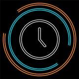 Icono del reloj - ejemplo del reloj del vector, símbolo del tiempo - muestra del despertador libre illustration
