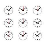 Icono del reloj fijado - ejemplo del vector del esquema libre illustration