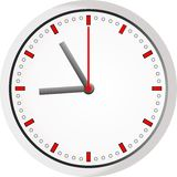 Icono del reloj Reloj simple del vector Ilustración del Vector
