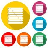 Icono del rendimiento energético, casa y concepto del rendimiento energético, icono del color con la sombra larga Fotos de archivo
