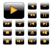 Icono del reproductor multimedia Fotos de archivo