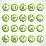 Icono del reproductor multimedia Imágenes de archivo libres de regalías