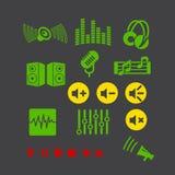 Icono del reproductor multimedia Fotografía de archivo libre de regalías