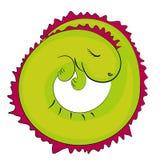 Icono del reptil el dormir Fotografía de archivo