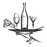 Icono del restaurante Fotografía de archivo libre de regalías
