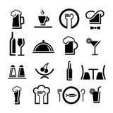 Icono del restaurante Foto de archivo libre de regalías