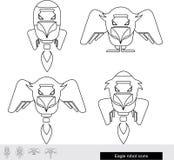 Icono del robot de Eagle Eagle-cohete stock de ilustración