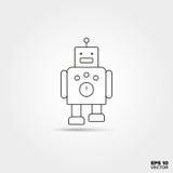 icono del robot del juguete Imagen de archivo libre de regalías