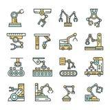 Icono del robot industrial Imágenes de archivo libres de regalías