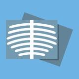 Icono del roentgen del cuerpo Diseño plano stock de ilustración
