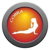 Icono del rojo de la actitud de la cobra de la yoga Imágenes de archivo libres de regalías