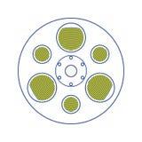 Icono del rollo de película stock de ilustración