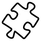 Icono del rompecabezas en el fondo blanco libre illustration