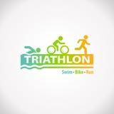 Icono del símbolo de la aptitud del Triathlon stock de ilustración