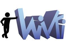 Icono del símbolo de la gente de la información de Wiki Imagen de archivo libre de regalías
