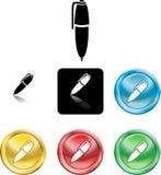 Icono del símbolo de la pluma Fotografía de archivo libre de regalías