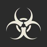 Icono del símbolo del Biohazard Foto de archivo libre de regalías