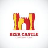 Icono del símbolo del concepto del vector del castillo de la cerveza Fotografía de archivo libre de regalías