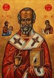 Icono del Saint Nicolas Fotos de archivo