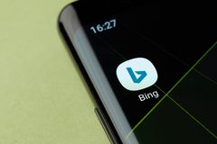 Icono del Search Engine de Bing imágenes de archivo libres de regalías