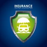 Icono del seguro Fotografía de archivo libre de regalías