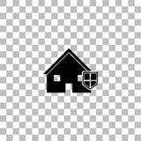 Icono del seguro de la casa completamente ilustración del vector
