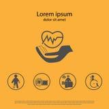 Icono del seguro médico Foto de archivo libre de regalías