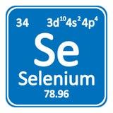 Smbolo del elemento qumico del selenio de la tabla peridica stock icono del selenio del elemento de tabla peridica fotografa de archivo urtaz Images