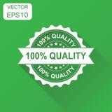 icono 100% del sello de goma de la calidad Concepto del negocio qua del 100 por ciento Fotos de archivo
