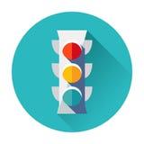 Icono del semáforo Fotos de archivo libres de regalías