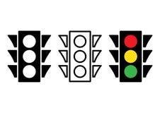 Icono del semáforo Ilustración del vector stock de ilustración